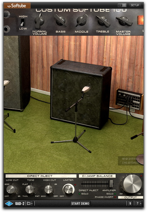 UAD Softube Bass Amp Room
